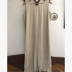 Minimalist Linen Blend Maxi Dress